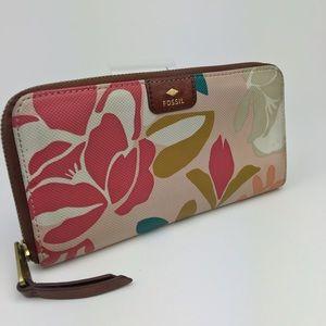 FOSSIL zip wallet